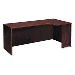 Basyx BSXBL2124RNN BL Series Credenza Shell with Right Corner Extension, 72w x 24-36d, Mahogany