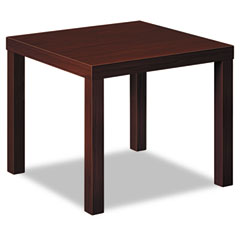 Basyx - laminate occasional table, 24w x 24d x 20h, mahogany, sold as 1 ea