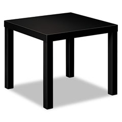 Basyx - laminate occasional table, 24w x 24d x 20h, black, sold as 1 ea
