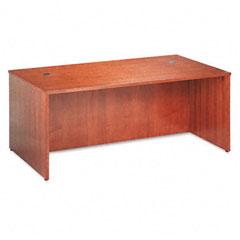 Basyx - bw veneer series rectangular desk shell, 72w x 36w x 29h, bourbon cherry, sold as 1 ea