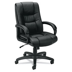 Basyx - vl131 executive high-back chair, black vinyl, sold as 1 ea
