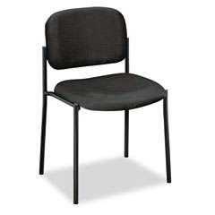 Basyx - armless guest chair, 21-1/4 x 21 x 32-3/4, black, sold as 1 ea