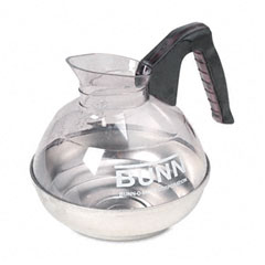 Bunn - 12-cup coffee carafe for pour-o-matic bunn coffee makers, black handle, sold as 1 ea