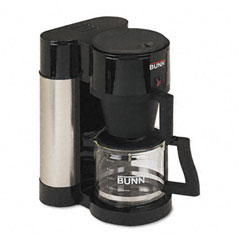 Bunn-O-Matic BUNNHBXB 10-Cup Professional Home Coffee Brewer, Stainless Steel, Black