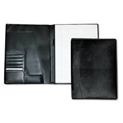 Buxton - men's classic pad folio/writing pad, 8 1/2 x 11, black, each, sold as 1 ea