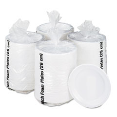 "BWK BWK10FPL Non-Laminated Foam Dinnerware, Plates, 10-1/4"" Diameter, White, 500/Carton"