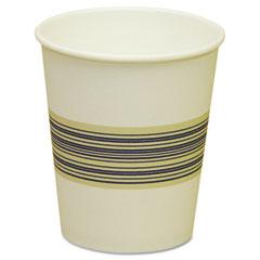 BWK 10SQHOTCUP Paper Hot Cups, 10 Oz., Blue & Tan, 20 Bags Of 50, 1000/Carton
