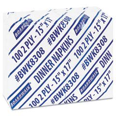 Boardwalk - dinner napkin, 15-inch x 17-inch, white, 3,000 per carton, sold as 1 ct