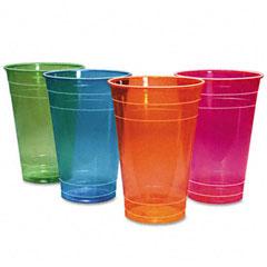 BWK BWKC162FC6 Boardwalk Cold Cups, 16 oz, Festive Colors, 840/Carton