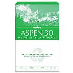 Boise Cascade 054907 Aspen 30% Recycled Office Paper, 92 Bright, 20Lb, 11 X 17, White, 2500 /Carton