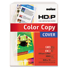 Boise - hd:p color copy cover, 80 lbs., 98 brightness, 8-1/2 x 11, white, 250 sheets, sold as 1 pk