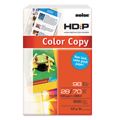 Boise Cascade BCP-2817 Hd:P Color Copy Paper, 98 Brightness, 28Lb, 11 X 17, White, 500 Sheets/Ream
