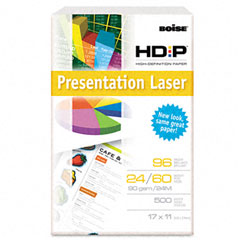 Boise - hd:p presentation laser paper, 96 brightness, 24lb, 11 x 17, white, 500/ream, sold as 1 rm