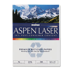 Boise - aspen laser paper, 96 brightness, 24lb, 8-1/2 x 11, white, 500 sheets/ream, sold as 1 rm