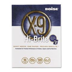 Boise Cascade MP-1050 X-9 Hi-Brite Paper, 96 Brightness, 20Lb, 8-1/2 X11, White, 5000/Carton
