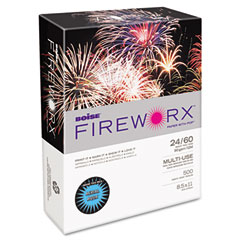 Boise Cascade MP2241-AA Fireworx Colored Paper, 24Lb, 8-1/2 X 11, Aerial Aqua, 500 Sheets/Ream
