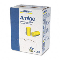 E?????????a?????????r - classic small ear plugs in pillow paks, pvc foam, yellow, 200 pairs/box, sold as 1 bx
