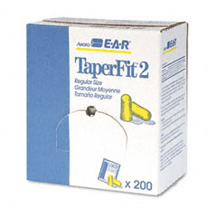 E?????????a?????????r - taperfit 2 self-adjusting ear plugs, uncorded, foam, yellow, 200 pairs/box, sold as 1 bx