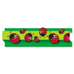 Carson-dellosa publishing - pop-it border, ladybugs, 3-inch x 24', 8 strips/pack, sold as 1 ea