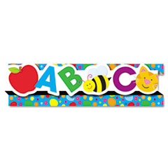 Carson-dellosa publishing - pop-it border, abcs/123s, 3-inch x 24', 8 strips/pack, sold as 1 ea