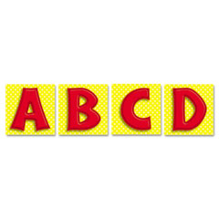 Carson-dellosa publishing - quick stick letters set, 45 pieces, red, sold as 1 ea