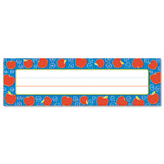 Carson-dellosa publishing - desk nameplates, apples, 9 1/2-inch x 3-inch, 36/set, sold as 1 st