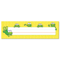 Carson-dellosa publishing - desk nameplates, frogs, 9 1/2-inch x 3-inch, 36/set, sold as 1 st