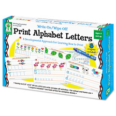 Carson-dellosa publishing - write-on/wipe-off print alphabet letters activity set, ages 4 and up, sold as 1 ea