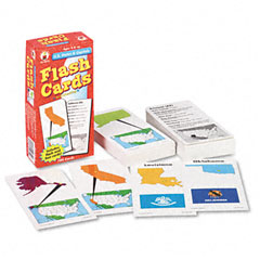 Carson-dellosa publishing - flash cards, u.s. states and capitals, 3w x 6h, 109/pack, sold as 1 pk
