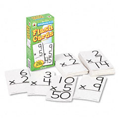 Carson-dellosa publishing - flash cards, multiplication facts 0-12, 3w x 6h, 94/pack, sold as 1 pk