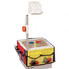 Carson-dellosa publishing - overhead projector storage, 3 12-1/4 x 7-1/4 panels w/6 pockets & belt, sold as 1 ea