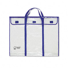 Carson-dellosa publishing - bulletin board storage bag, blue;clear, 30-inch x 24-inch, sold as 1 ea