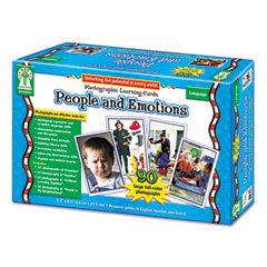 Carson-dellosa publishing - photographic learning cards boxed set, people and emotions, grades k-12, sold as 1 bx