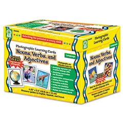 Carson-dellosa publishing - photographic learning cards boxed set, nouns/verbs/adjectives, grades k-12, sold as 1 bx