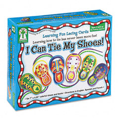 Carson-dellosa publishing - i can tie my shoes! lacing cards, ages 4 and up, sold as 1 ea