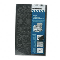 Chartpak - press-on vinyl letters & numbers, self adhesive, black, 3/4-inchh, 94/pack, sold as 1 pk
