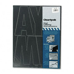 Chartpak - press-on vinyl uppercase letters, self adhesive, black, 6-inchh, 38/pack, sold as 1 pk