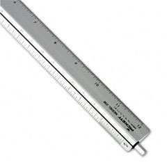 Chartpak - adjustable triangular scale aluminum architects ruler, 12-inch, silver, sold as 1 ea