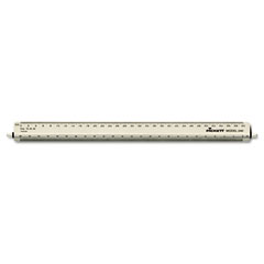 Chartpak - adjustable triangular scale aluminum engineers ruler, 12-inch, silver, sold as 1 ea