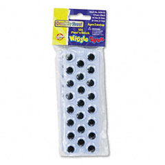 Creativity street - peel 'n stick wiggle eyes, assorted sizes, black, 125/pack, sold as 1 pk