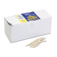 Chenille kraft - flat wood toothpicks, wood, natural wood, 2500/pack, sold as 1 pk