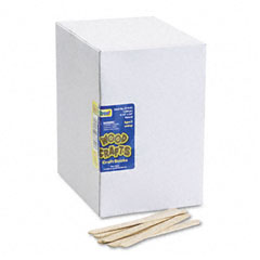 Chenille kraft - natural wood craft sticks, 4 1/2 x 3/8, natural wood, 1000/box, sold as 1 bx