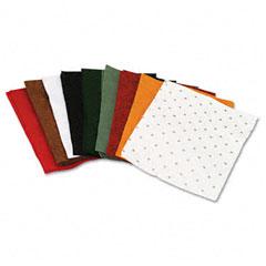 Chenille kraft - one pound felt sheet pack, rectangular, 9 x 12, assorted colors, sold as 1 pk