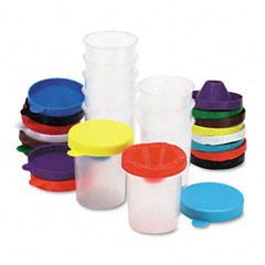 Chenille kraft - no-spill paint cups, 10/pack, sold as 1 st