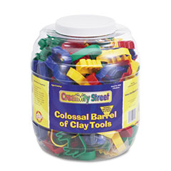 Creativity street - colossal barrel of clay tools, 144 cutters in 24 designs, five tools in each, sold as 1 ea