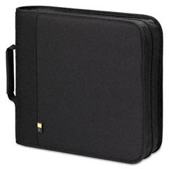 Case logic - cd/dvd expandable binder, holds 208 disks, black, sold as 1 ea