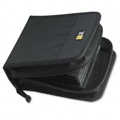 Case logic - cd/dvd wallet, holds 32 disks, black, sold as 1 ea