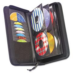 Case logic - cd/dvd wallet, holds 72 disks, black, sold as 1 ea