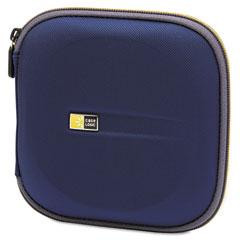 Case logic - cd wallet, holds 24 disks, blue, sold as 1 ea