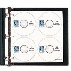 C-line - cd/dvd refillable d-ring binder kit, holds 80 disks, black, sold as 1 ea